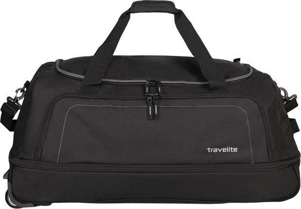 Basic torba podróżna na kółkach Travelite (składana z pokrowcem) - czarna