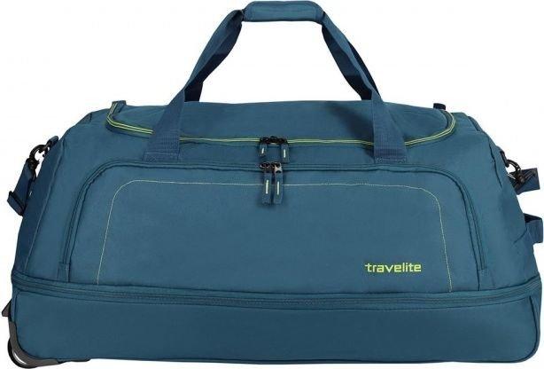 Basic torba podróżna na kółkach Travelite (składana z pokrowcem) - niebieska