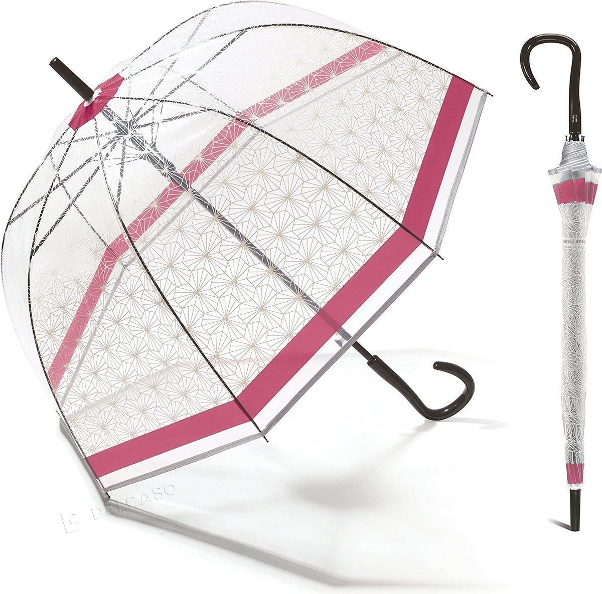 Parasol przeźroczysty Pierre Cardin Symetrique Domeshape pink