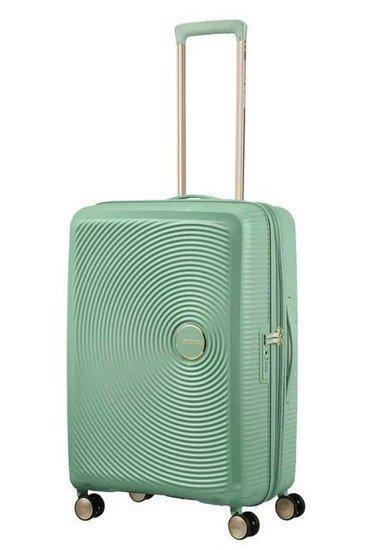 Walizka American Tourister Soundbox 67 cm powiększana ciemno zielona