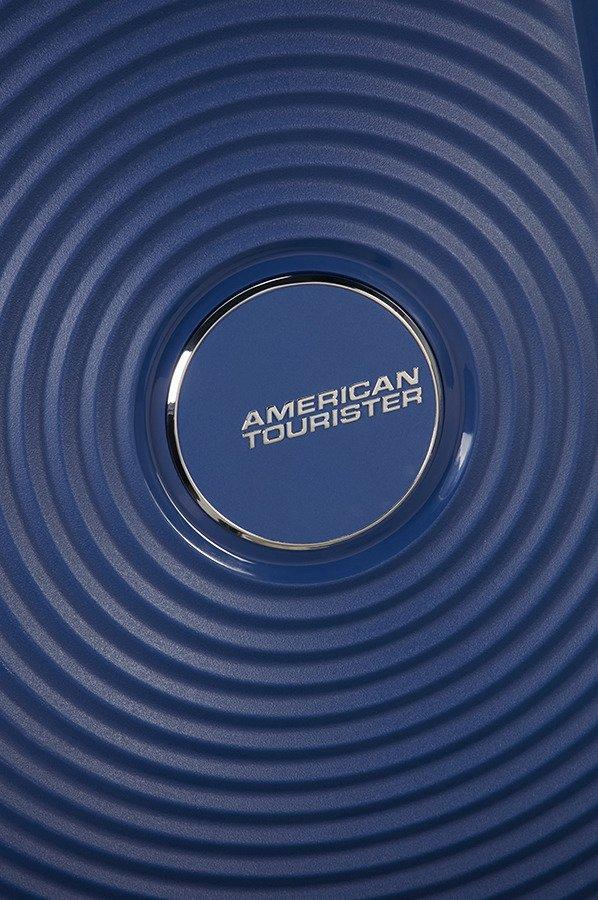 Walizka American Tourister Soundbox 67 cm powiększana granatowa