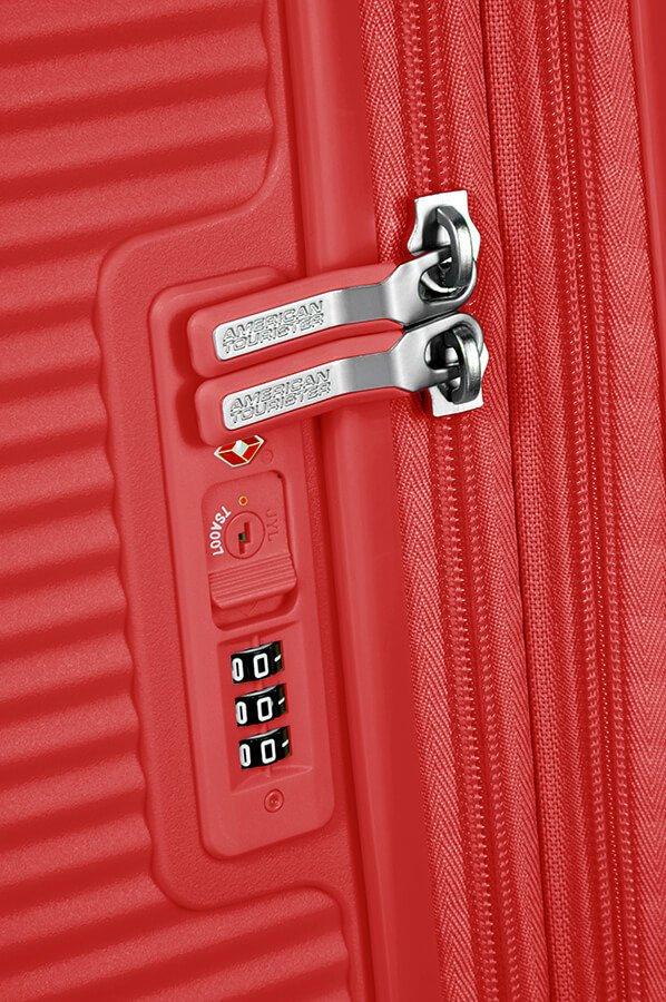Walizka American Tourister Soundbox 77 cm powiększana czerwona