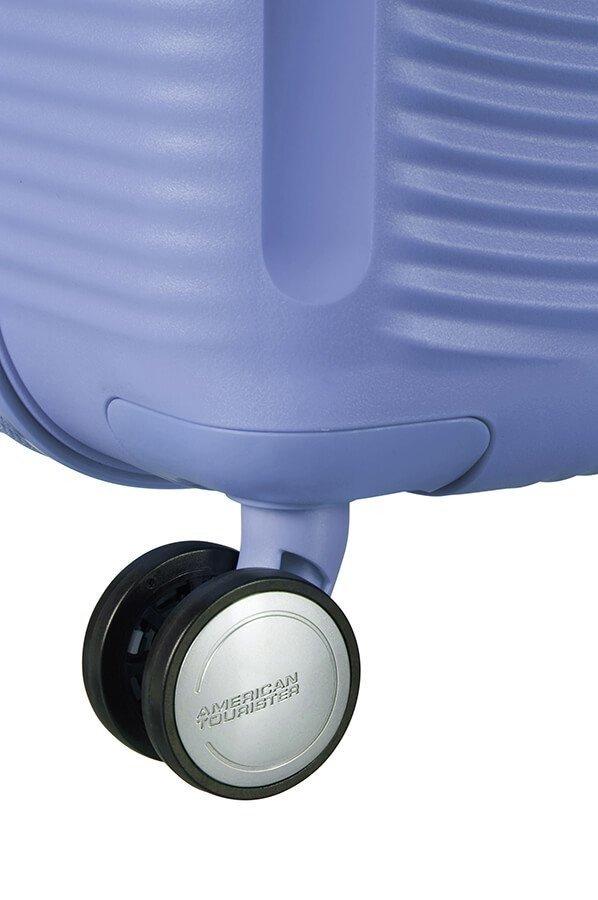 Walizka American Tourister Soundbox 77 cm powiększana niebieska