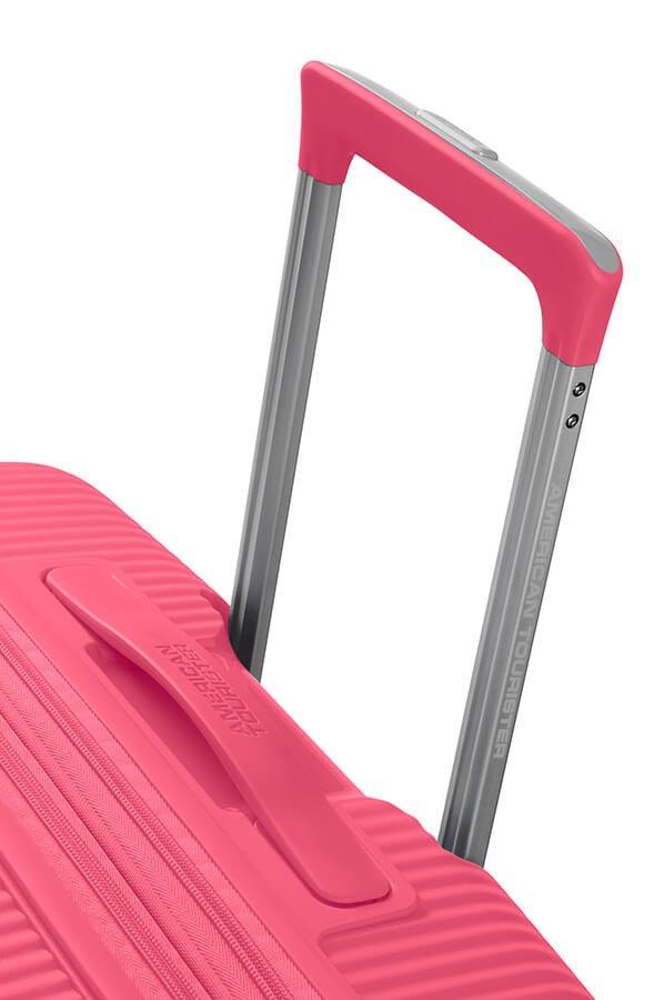 Walizka kabinowa American Tourister Soundbox 55 cm powiększana różowa