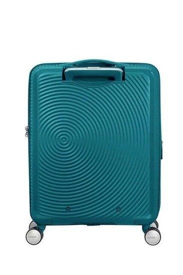 Walizka kabinowa American Tourister Soundbox 55 cm powiększana turkusowa