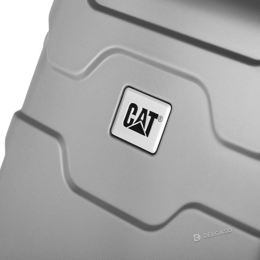 Walizka kabinowa Cat Caterpillar Roll Cage 56 cm mała srebrna
