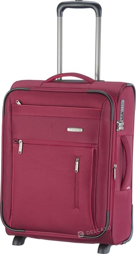 Walizka kabinowa Travelite Capri 2-kółkowa 55 cm mała czerwona