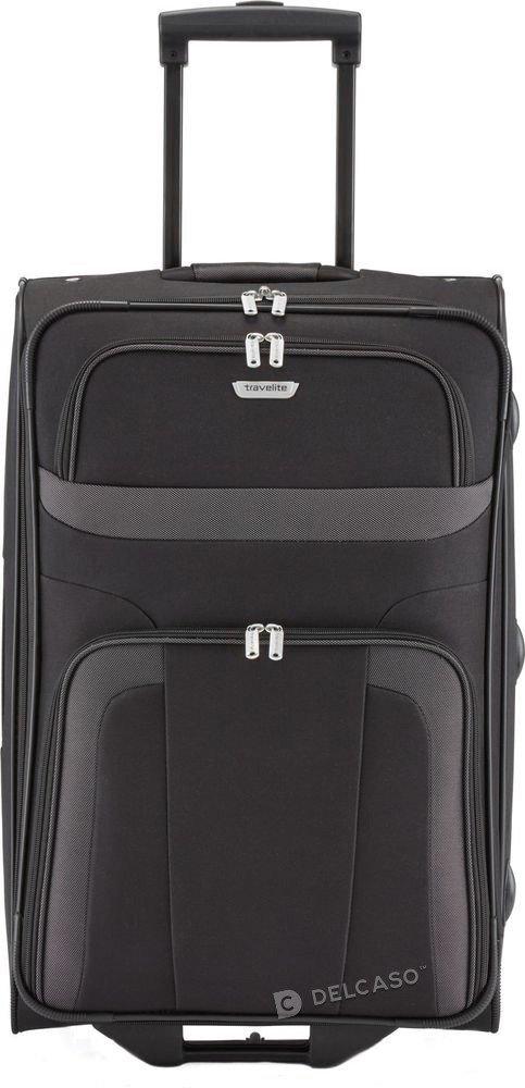 Walizka średnia 2-kółkowa Travelite Orlando 63 cm czarna