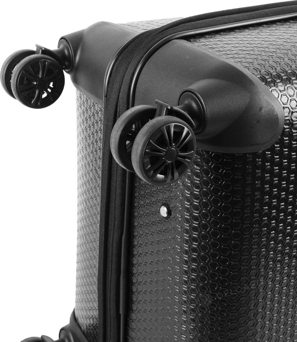 Walizka średnia Cat Caterpillar Hexagon 66 cm czarna