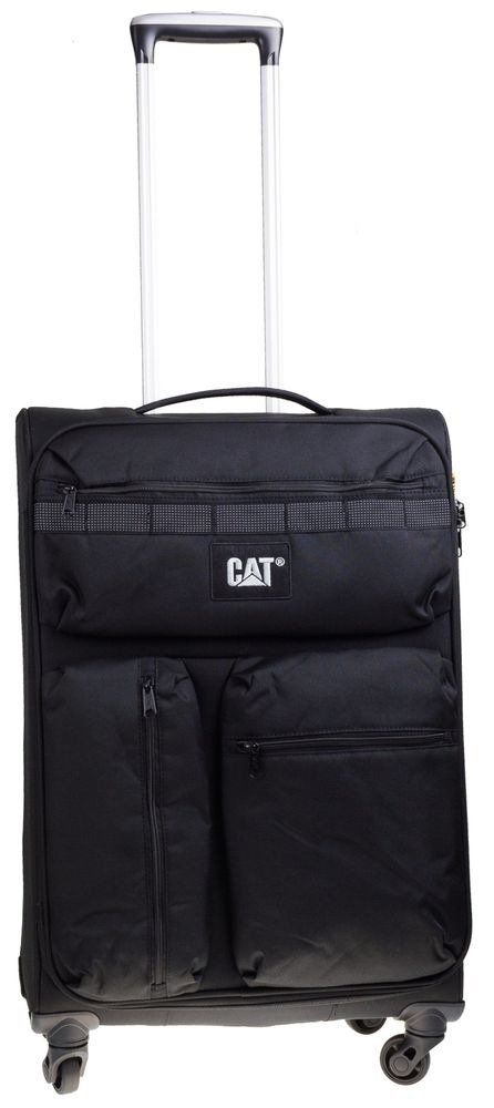 Walizka średnia Cat Combat visiflash 67 cm czarna