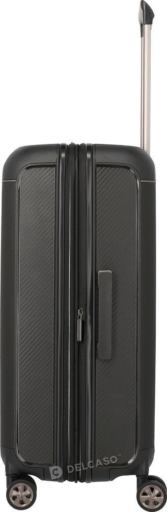 Walizka średnia - poszerzana Titan Compax czarna