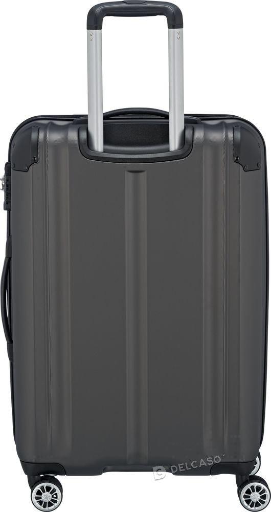 Walizka średnia poszerzana Travelite City 68 cm antracytowa