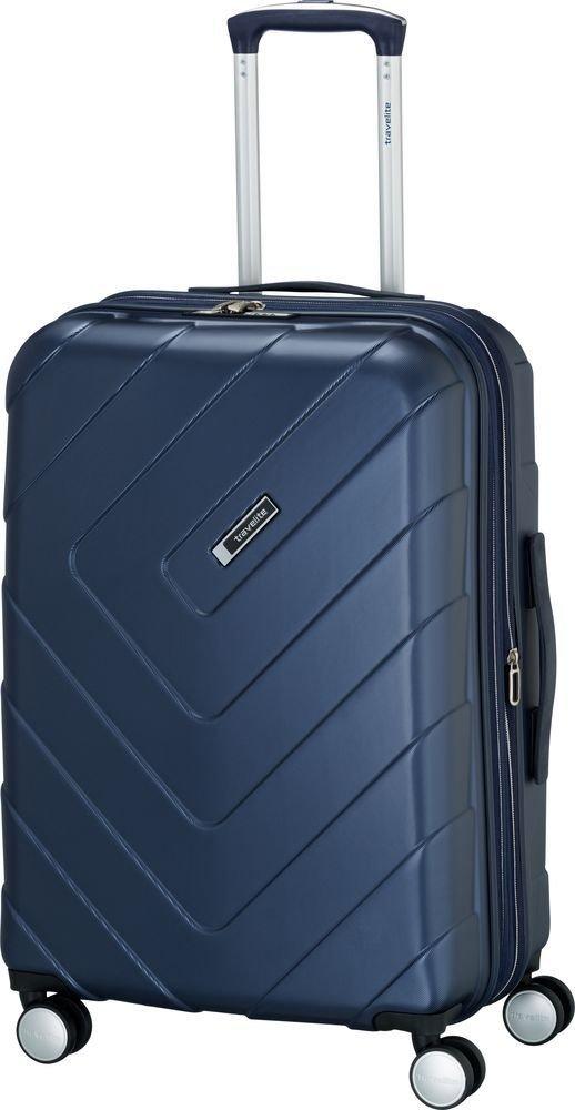 Walizka średnia - poszerzana Travelite Kalisto 67 cm Niebieska