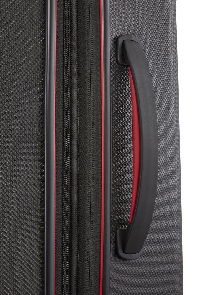 Walizka średnia poszerzana Travelite Vector 70 cm czarna